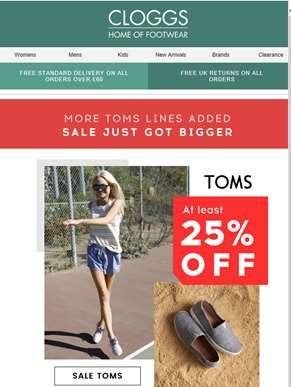 More TOMS added | At least 25% off!