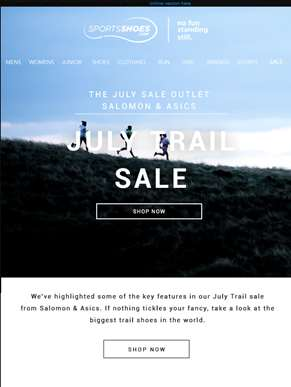 Explore New Adventures - July Trail Sale