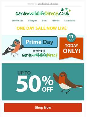 It's Prime Day - Up to 50% off! Today only.