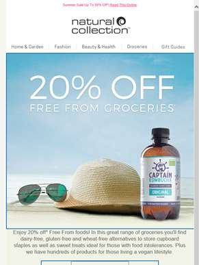 20% Off Free From Groceries*