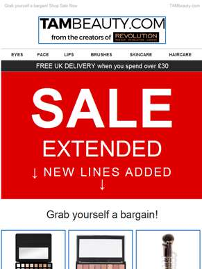SALE EXTENDED - NEW LINES ADDED