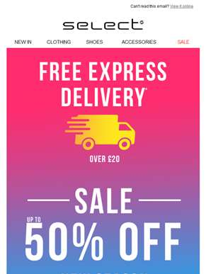 OMG!! Spend £20 and get FREE Express Delivery…!