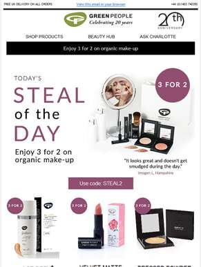 Steal of the day | 3 for 2 on make-up