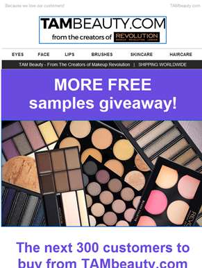 More FREE Samples Giveaway!
