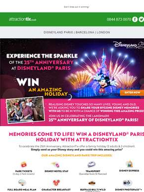 WIN an Amazing Holiday to Disneyland Paris! Enter Now..