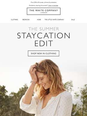 New in clothing: the Staycation Edit has landed