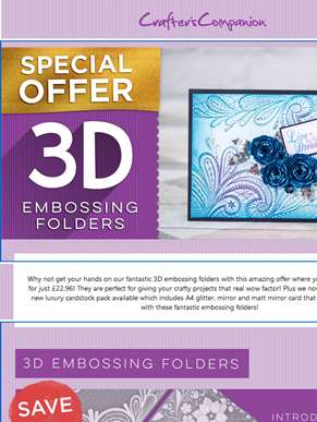 Special offer on 3D Embossing folders!