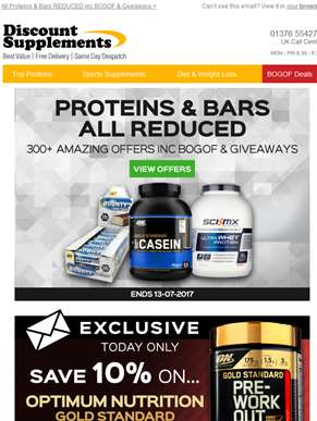 Proteins & Bars ALL REDUCED