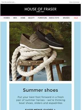 Summer shoes from Toms, Dune and more