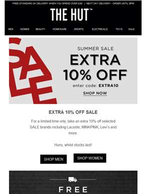 Extra 10% off SALE...