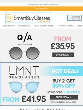 Your favorite brands Quay Australia and LMNT from £35.95 ??