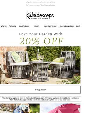 Love Your Garden With 20% Off!