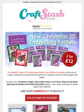 Fill your stockings with fab 3D Christmas Embossing Folders!