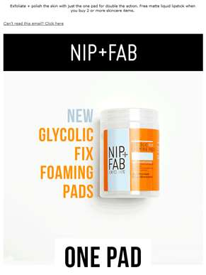 NEW Dual-Textured Glycolic Foaming Pads