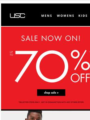 BIG brand savings! Up to 70% OFF.......