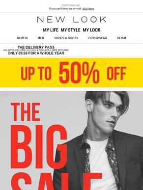 The BIG 50% OFF SALE is here!