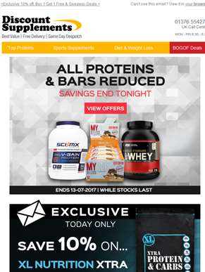FINAL DAY: Protein & Bars Reduced