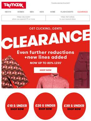 Clearance: Further reductions + New lines added