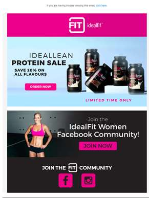 20% Off Sale: All IdealLean Protein for Women