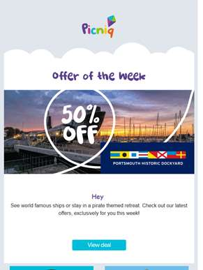 ?? 50% off Portsmouth Historic Dockyard and more exclusive offers!
