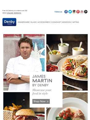 Serve in style this Summer with James Martin
