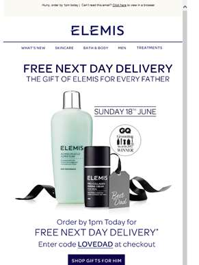 FREE Next Day Delivery In Time for Father's Day