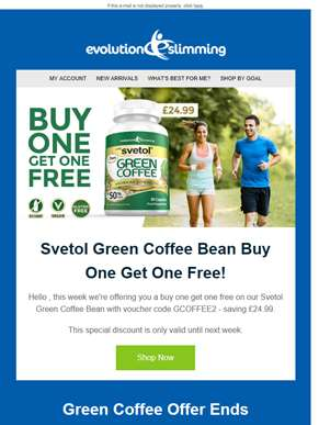 Green Coffee Bean Buy One Get One Free