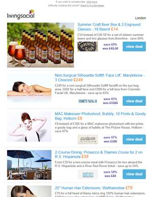 Deals for you: 16 Craft Beers & 2 Glasses £14 | Non-surgical 'face lift' £249 | MAC Photoshoot, Bubb