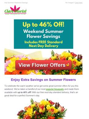 Weekend Sale Now On: Up to 46% Off Dazzling Summer Bouquets with Next Day Delivery