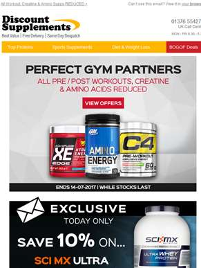 Essential Pre-Workouts - Get super-charged