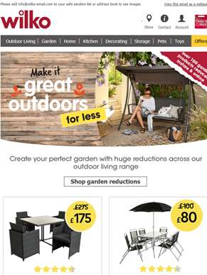 Save up to £100 on garden furniture!