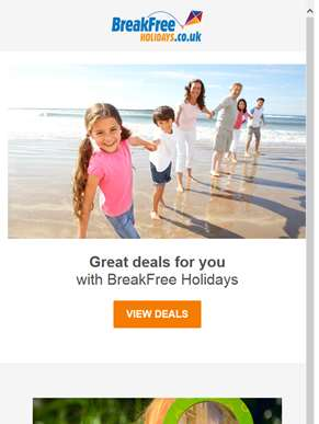 Get a great deal more with BreakFree Holidays