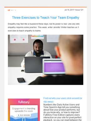 ??  UX Booth Weekly: Teaching Your Team Empathy