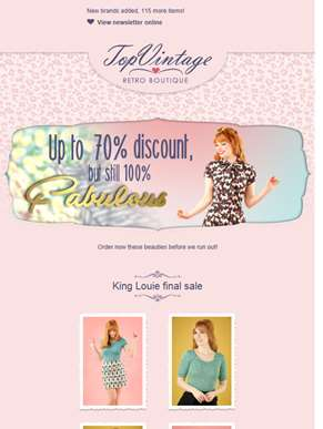 Up to 70% discount, but still 100% fabulous ?