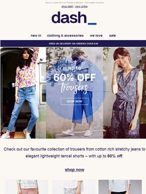 Feedin trousers now up to 60% off