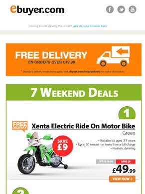 Hi  - Electric Ride On Motor Bike - Now Under £50
