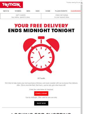 Feedin Your FREE DELIVERY ends midnight tonight. Rushhhhhh!