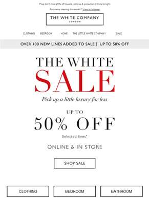 Have you shopped our up to 50% off sale yet?