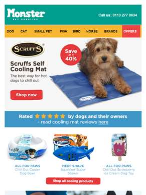 ?? ?? ?? Hot dog? Scorchio deals on our best-selling cooling products...
