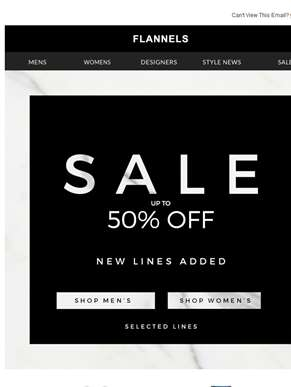 Up To 50% Off Top Sale Picks | New Lines Added