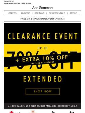 Your clearance event has been EXTENDED