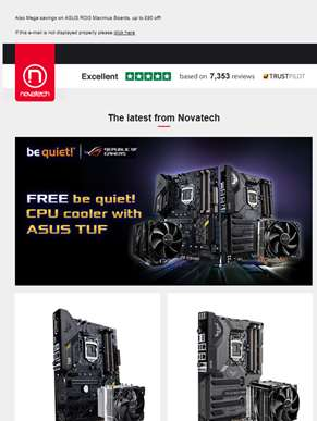 Feedin, ROG TUF Motherboards with Free Be Quiet CPU Cooler and more!
