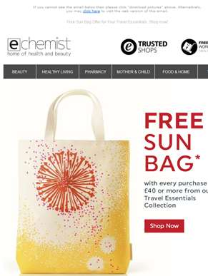 Free Sun Bag Offer for Your Travel Essentials. Shop now!
