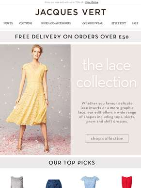 Shop our lace edit with up to 70% off