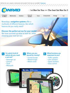 Discover the best sat nav for your needs, Feedin!