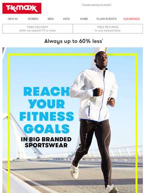 Say YES to big branded sportswear