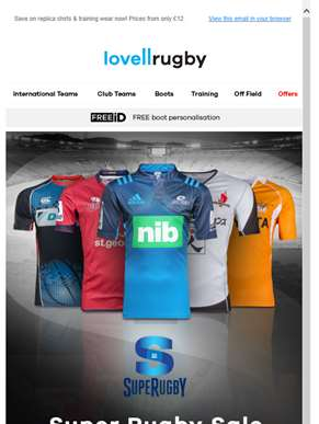 ?? SUPER RUGBY SALE - Up to £55 off!
