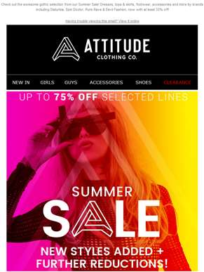 Up to 75% Off Summer Sale! ?? Gothic Edit