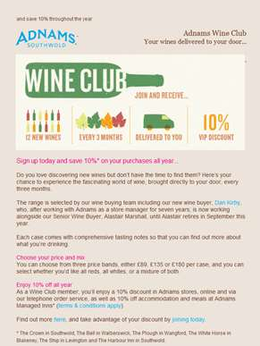 Love wine? Join our club...