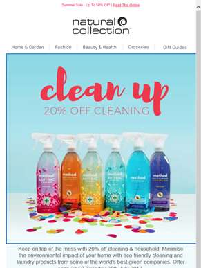 20% Off Cleaning & Household*